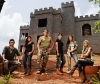 The family in front of the castle - (L to R):  B2, Lindsay, Brent Sr., Michael,  Ashley and Dawn Marie.  