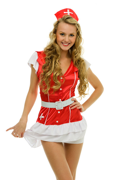 pretty-blonde-in-red-nurse-costume