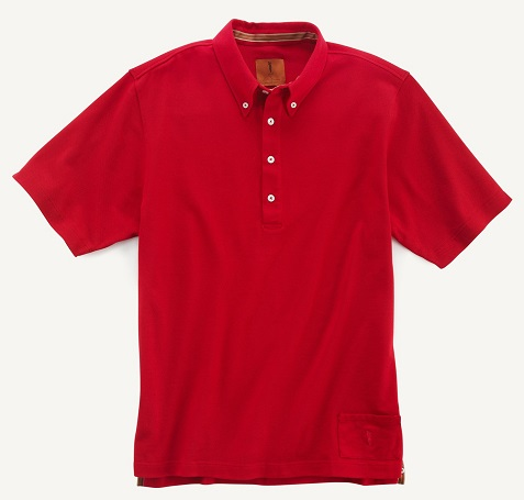 Golf by James Warren - jw001_red button down pique
