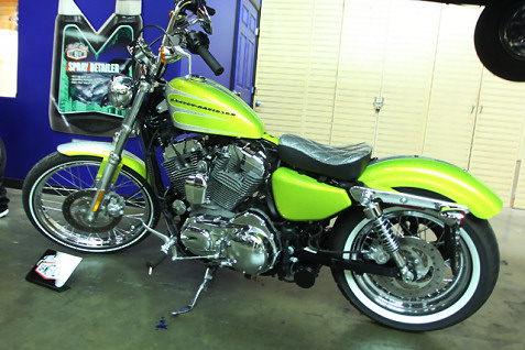 2 the Harley 72 in green